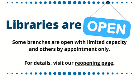 Libraries are Open notice